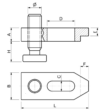 Dimensioni Staffe regolabili con vite passo quadro SPD S280