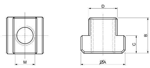 Scheda Tecnica Tasselli per cave a T SPD S360
