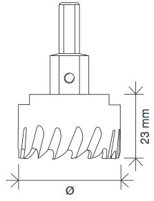 Schema tecnico fresa tazza per metalli Krino
