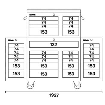 Schema tecnico cassettiera C38C Beta