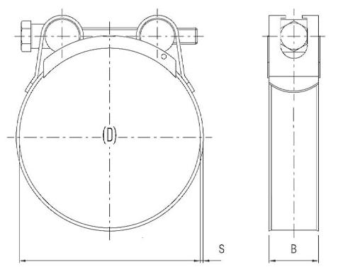 Schema tecnico collare stringitubo W1 Pizzirani