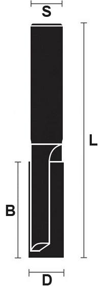schema tecnico punta elettrofresatrice HW Klein