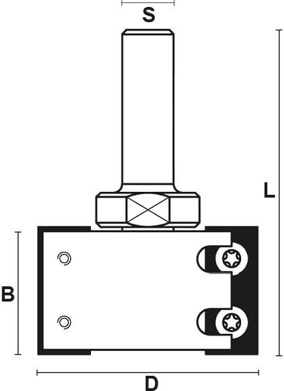 schema tecnico frese coltellini Klein per scanalature