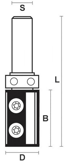 schema tecnico fresa legno HW Klein