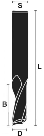 schema tecnico fresa alluminio integrale traente Klein