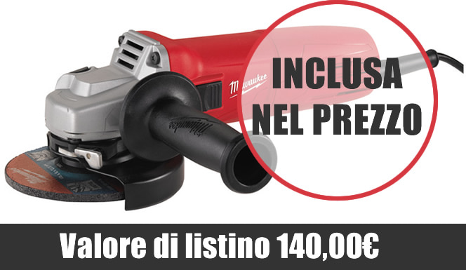 Smerigliatrice AG 10-125 EK inclusa nel prezzo