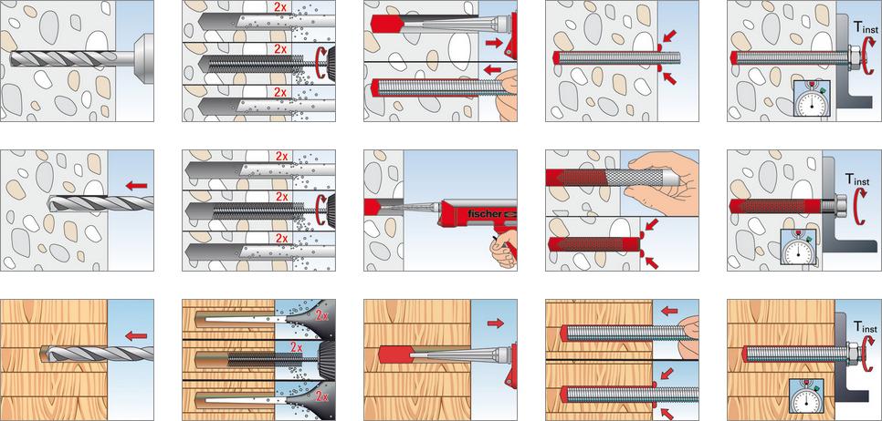 illustrazione istruzioni FIS SB 390 S Fischer
