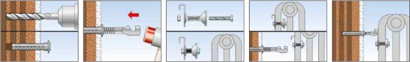 illustrazione utilizzo mensola radiatori lamellari TF9 Fischer