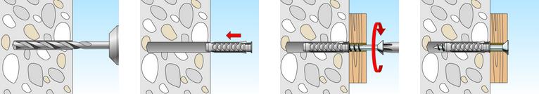 illustrazione istruzioni tassello TA-M Fischer