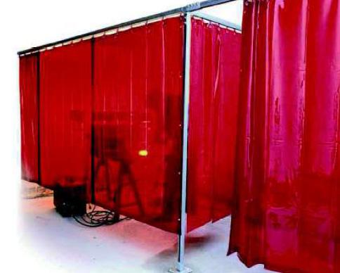 utilizzo tenda saldatura rossa