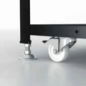 Siegmund Workstation con piedi e ruote